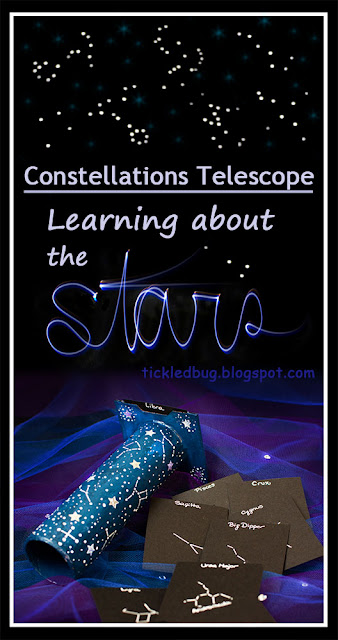 Telescope for Kids with Constellation Card and activities for Learning about the Stars