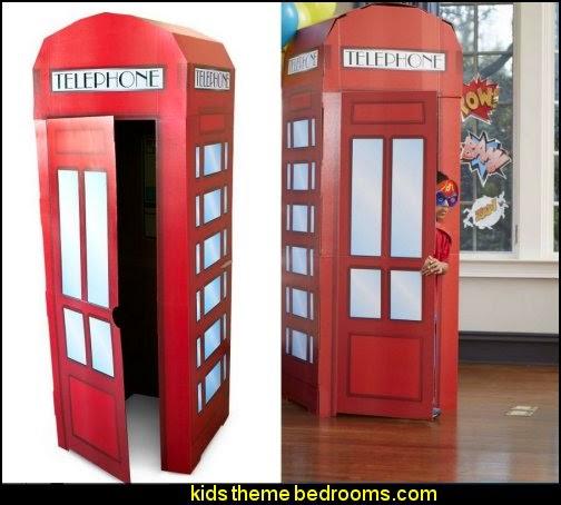 Superhero Comics Phone Booth Cardboard Stand