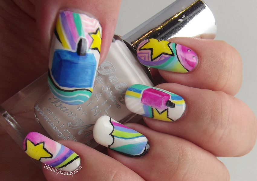 Freehand Nail Polish Bottle Abstract Design Ithinitybeauty