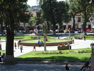 Vasco de Quiroga Square from Hotel Mansion Iturbe in Patzcuaro