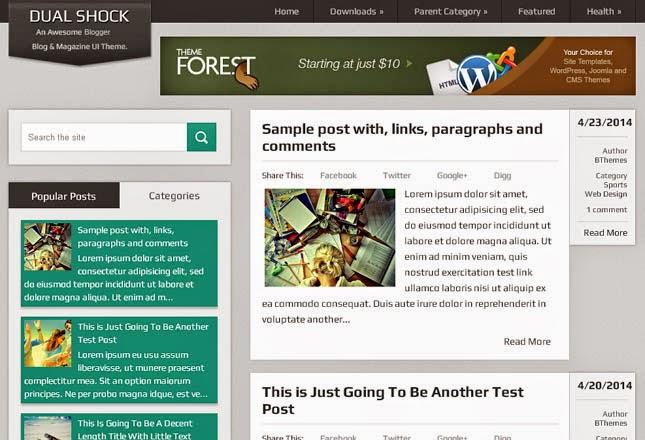 DualShock Responsive Blogger Template
