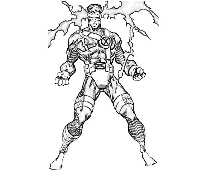 X Men Cyclops Character Yumiko Fujiwara Cyclops Coloring Pages