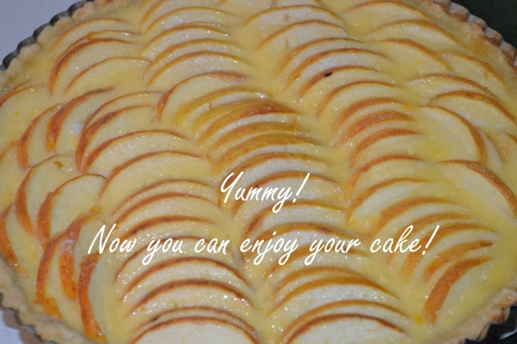 Alsatian apple cake baking