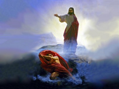 Gambar Yesus Dicobai si Iblis