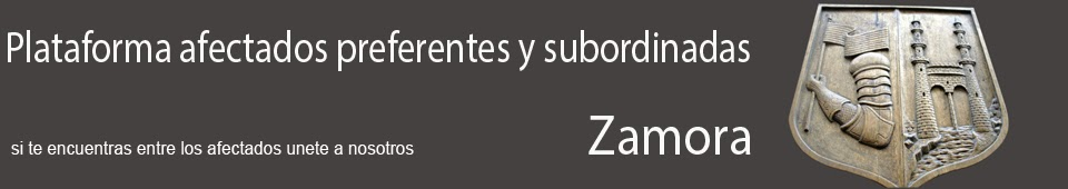 Plataforma afectados preferentes y subordinadas Zamora
