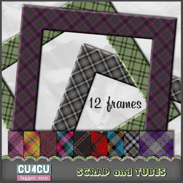 Autumnal Plaid Frames .Autumnal%2BPlaid%2BFrames_Preview_Scrap%2Band%2BTubes