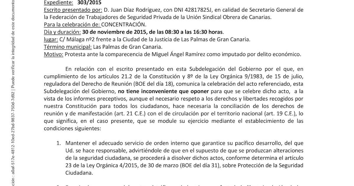 Ftsp uso las palmas autorizaci n de delegaci n del for Oficina virtual gobierno de canarias