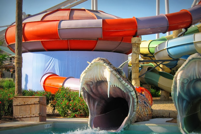 Slither Slides ride at Yas Waterworld