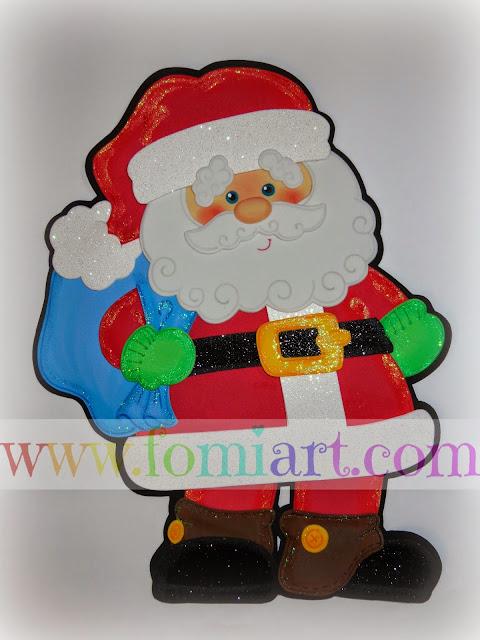 Haz un Santa Claus en fomi Manualidades