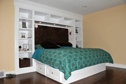Simple Bedroom Built In Cabinet Design