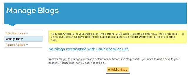 outbrain add a blog
