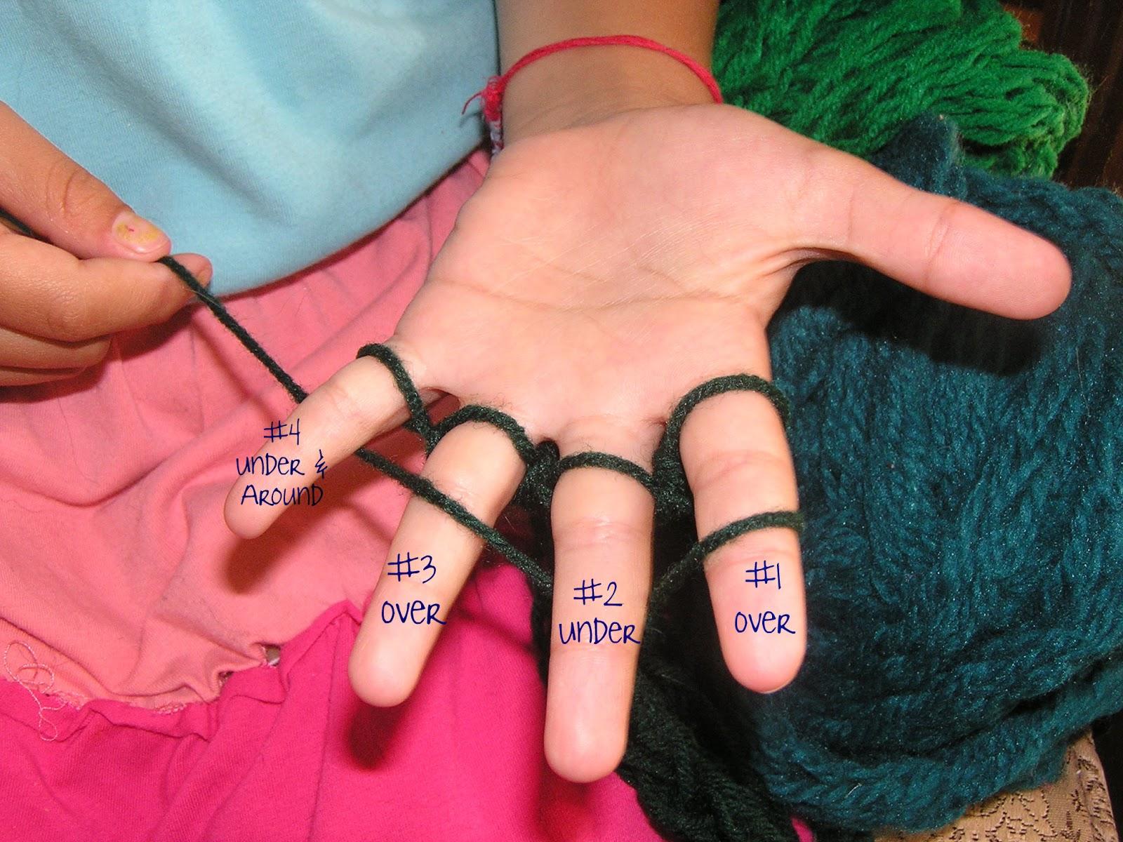 Grandparents Grandchildren Finger Knitting For Charity