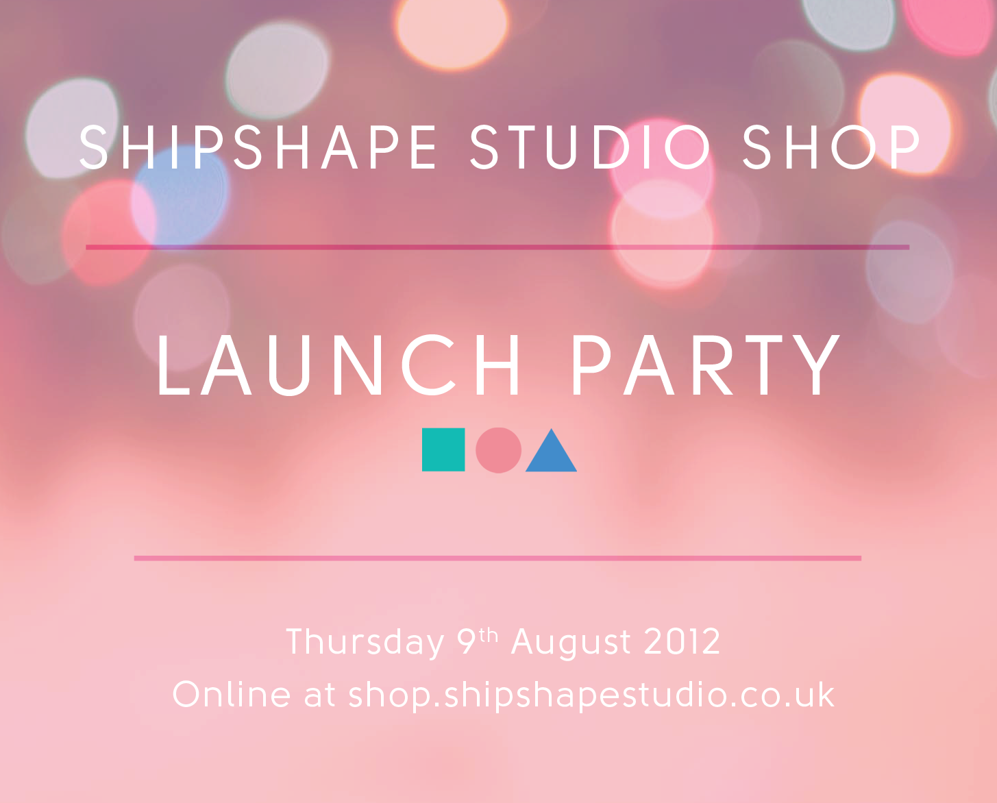 Shipshape Studio shop launch
