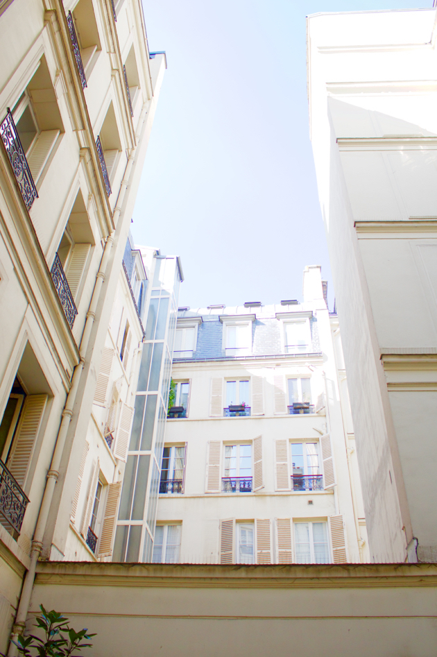 Parisian courtyard views