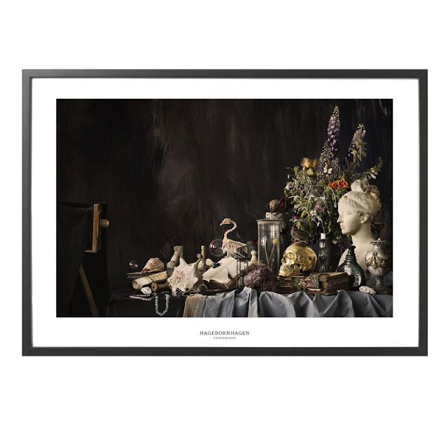 Hagendornhagen fotografisk kunstprint gengiver et barok maleri