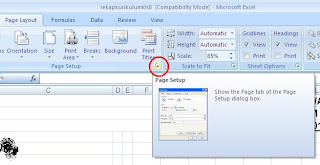 Mencetak Kop Berulang Pada Excel 2007