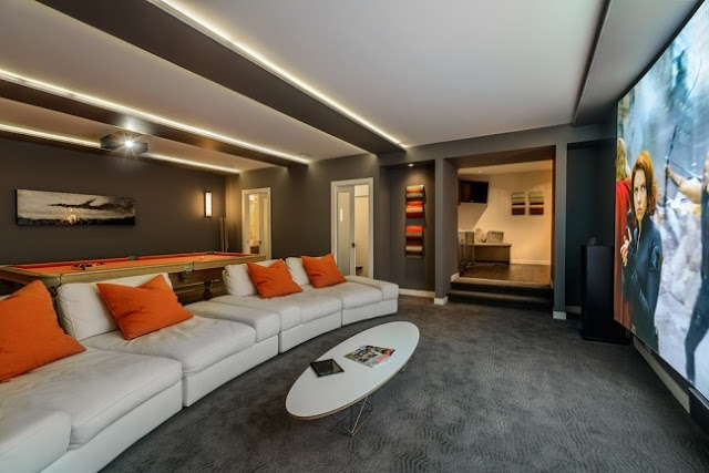 ultra modern home theater equipment and furniture