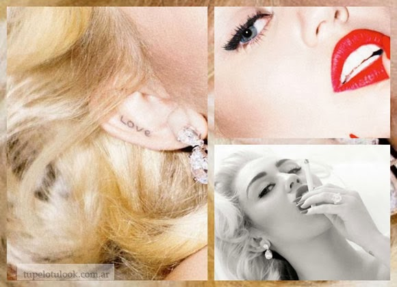 pelo 2014 Miley Cyrus look Marilyn