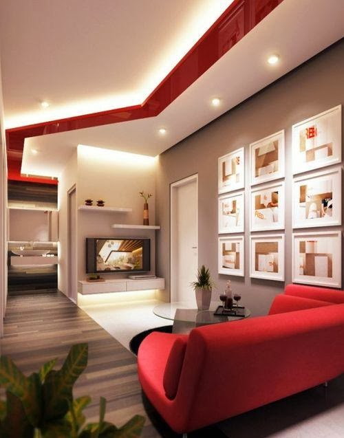 15 false ceiling designs with ceiling lighting for small rooms Living room ceiling lighting ideas