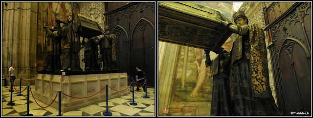 Séville Cathédrale et Giralta tombeau Christophe Colomb Andalousie