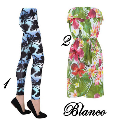 Estampado Tropical Blanco
