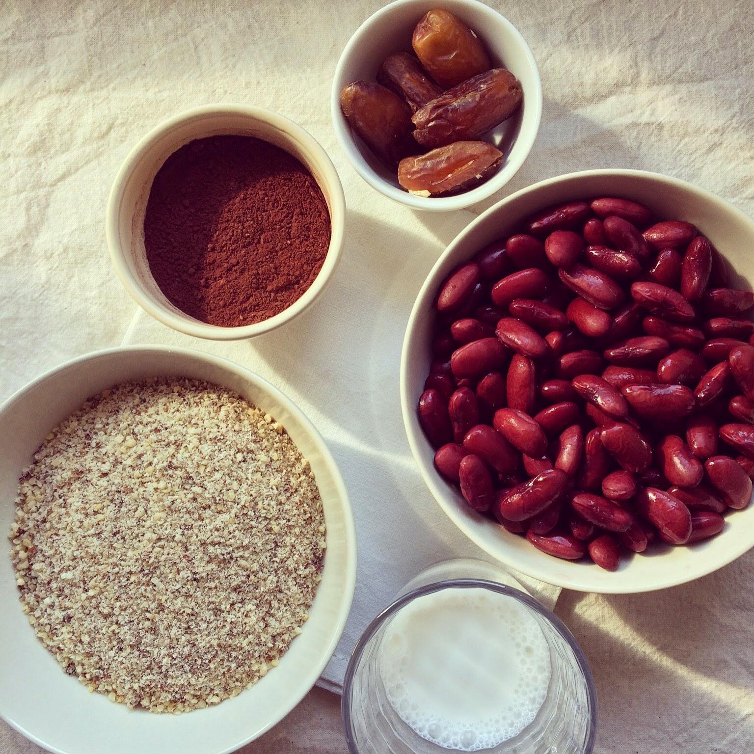 pâte à tartiner choco noisettes haricots rouges
