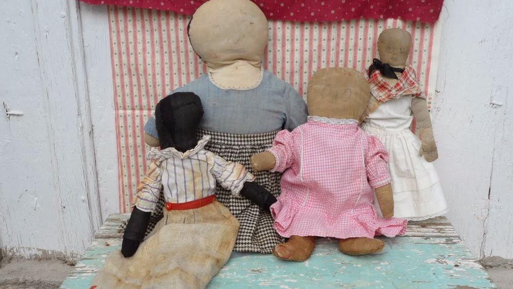 Early PA. Rag Dolls For Christmas - All very unique and early