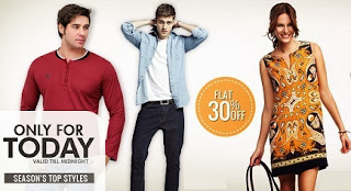 Flat 30% additional off on Men's & Women's Clothing at Home Shop18