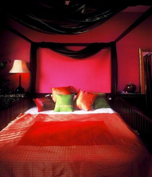 romantic red bedroom pictures