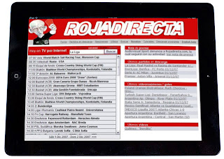 Rojadirecta en un iPad
