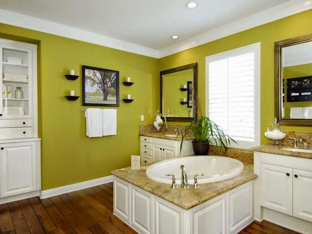 Modern green bathrooms