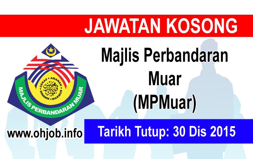 Jawatan Kerja Kosong Majlis Perbandaran Muar (MPMuar) logo www.ohjob.info disember 2015