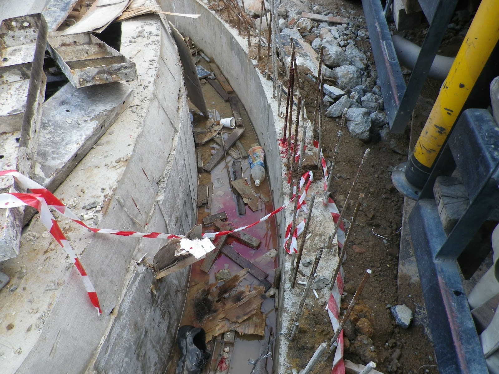 a worker tripped and fell onto the rebars the rebars caused injury to the next fortunately the worker rebar worker
