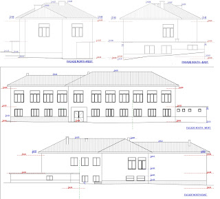The elevations for the school