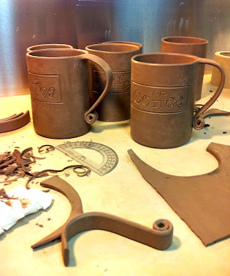 Custom order ceramic coffee and tea mugs