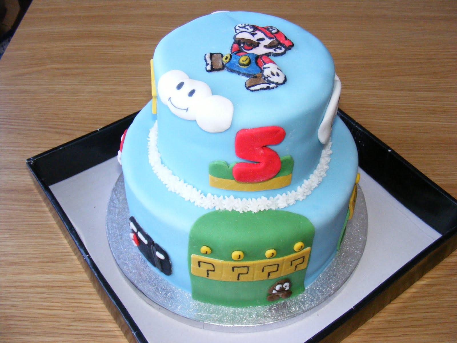 Victory Rolls Mixing Bowls Super Mario 5th Birthday Cake