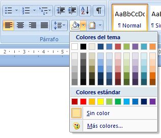 Bordes y Sombreado en Word 2007