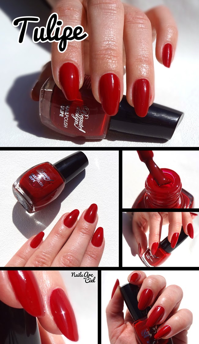Vernis rouge Tulipe beaute design