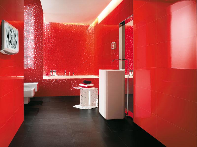 Decorar Un Baño Rojo:10 Baños color rojo – Colores en Casa