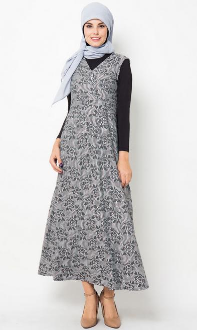 Gambar Baju Batik Muslim Gamis Modern
