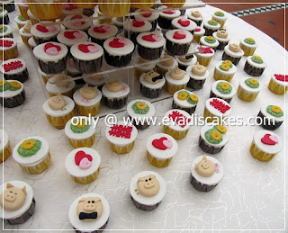 Picture of Penang Cakes - Evadis Cupcakes - Piggies Wedding Cupcakes Arrangement Another View