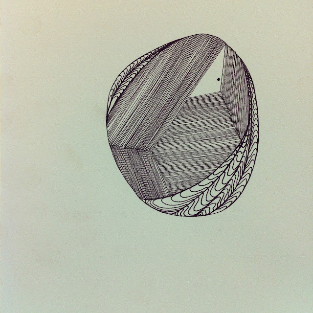 Lana Fee Rasmussen drawing. 12/32. Graphic Orb I