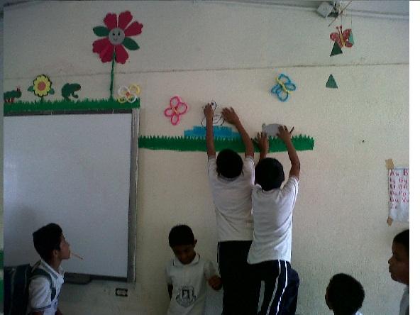 Salon De Clases Decorado De Primavera ~   Martinez Mendoza CEJSM Adornando el salon de clases (Primavera