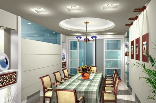 LED Ceiling Light Fixtures: Dining Room With Interesting Ceiling Lights