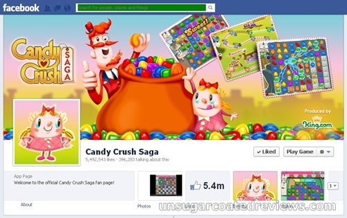 Candy Crush Saga Facebook page