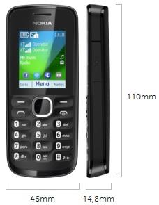 Dimensi Nokia 110
