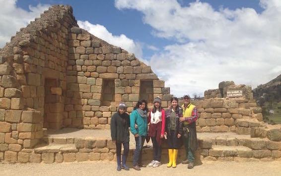 En las ruinas de Ingapirca