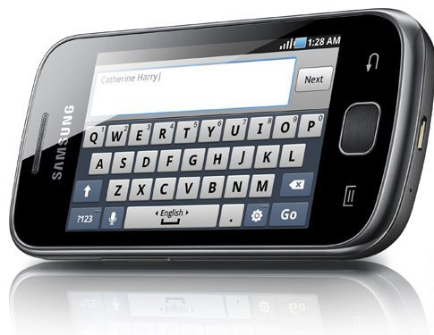 galaxy gio swype type keyboard