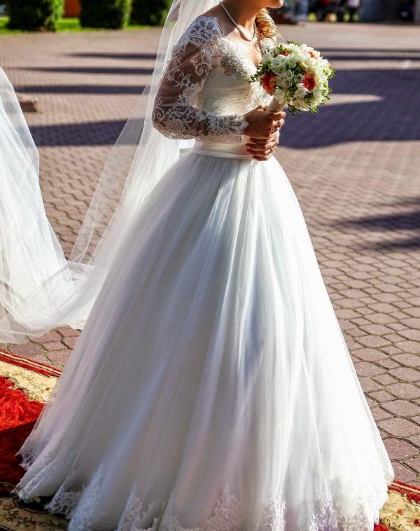 Suknie ślubne Vestido Princessa W Romantycznym Wydaniu Koronka