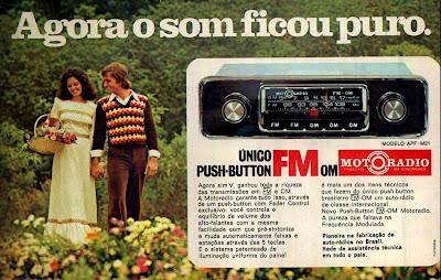 propaganda Moto Radio - 1975. brazilian advertising cars in the 70. os anos 70. história da década de 70; Brazil in the 70s; propaganda carros anos 70; Oswaldo Hernandez;